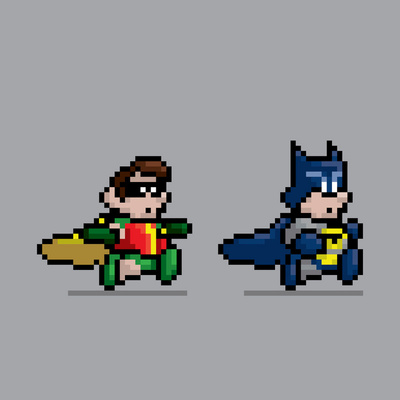 8 Bit Batman and Robin