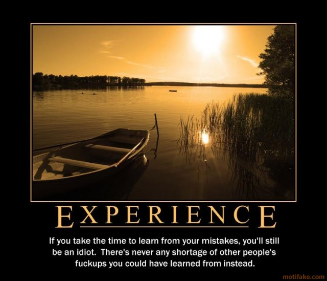 experience demotivational poster
