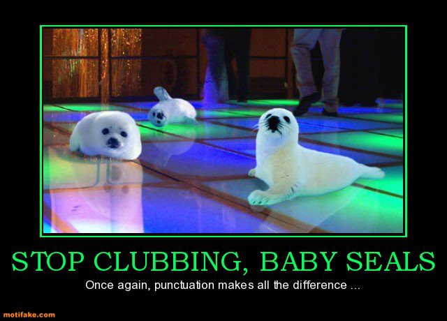 Baby Seals and Punctuation